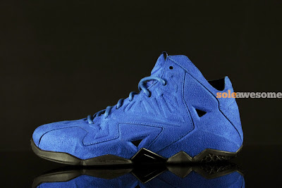 nike lebron 11 nsw sportswear ext blue suede 4 05 Nike LeBron XI EXT Blue Suede   1 of 3   NSW Retail Version