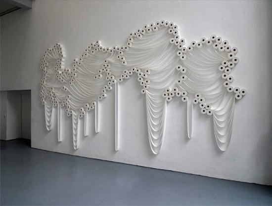 Arte com papel higiênico Sakir Gökcebag (2)