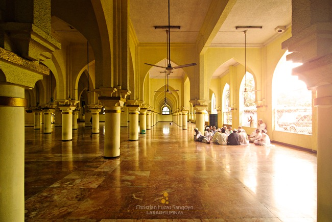 Group of Muslims Congregating Inside Manila's Golden Mosque