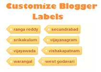 customize blogger labels
