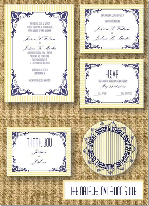 natalie invitation suite