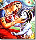 Yashoda looking into Krishna's mouth
