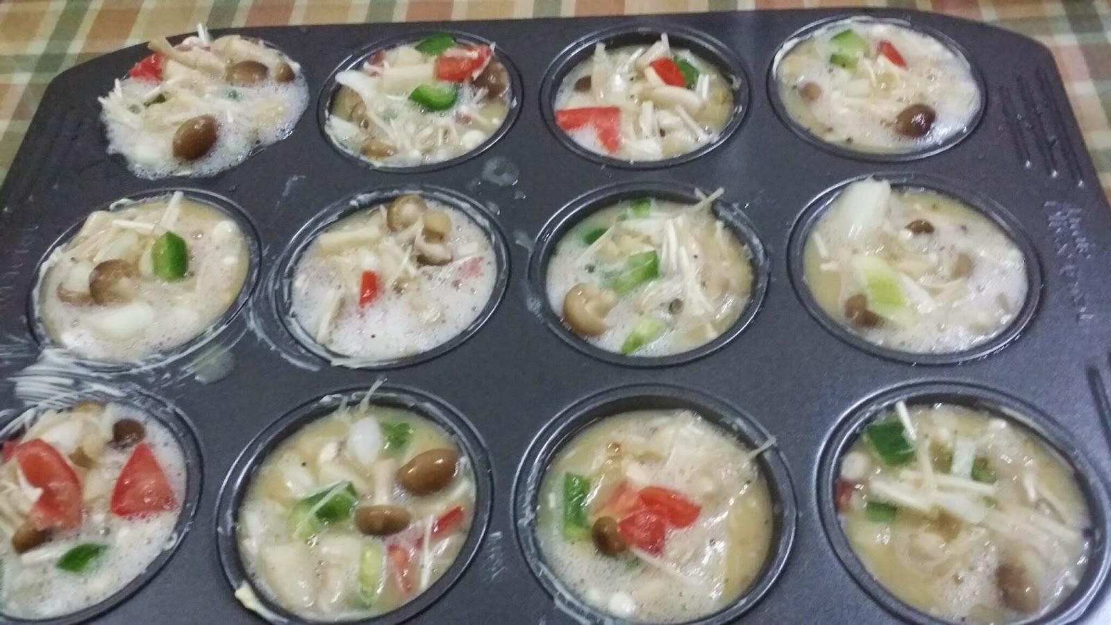 ZULFAZA LOVES COOKING: Muffin telur dan omelette