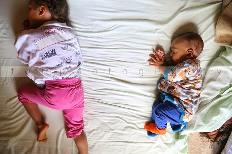 my sleeping children
