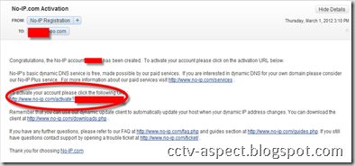 email confirmation no-ip