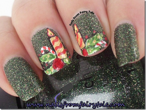 merry christmas nail art 3