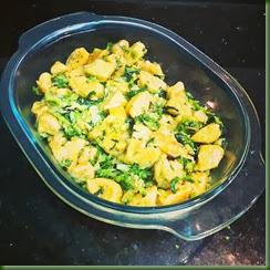 Nhoque de abóbora com rúcula e brócolis
