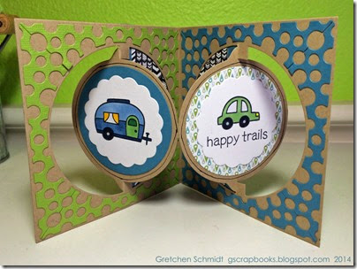 Happy Trails card by @gscrapbooks