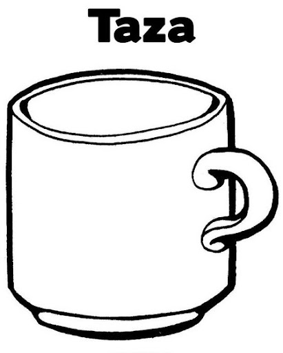 Para colorear taza - Imagui