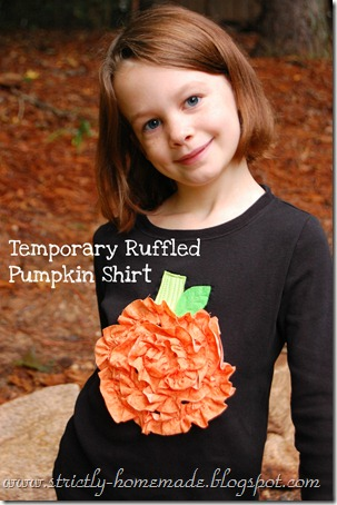 Temporary Ruffled Pumpkin Shirt