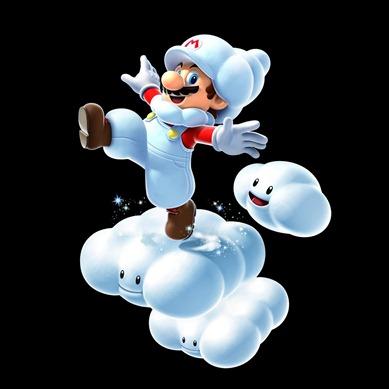 Mario en las nubes