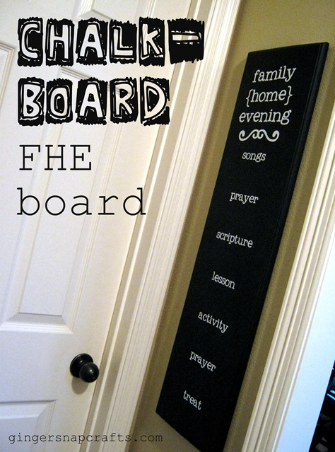 family home evening board LDS