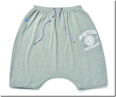 Monster University X Giordano - Grey Shorts