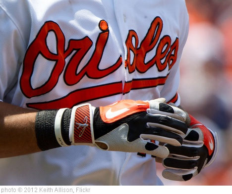 'Baltimore Orioles batting gloves' photo (c) 2012, Keith Allison - license: http://creativecommons.org/licenses/by-sa/2.0/