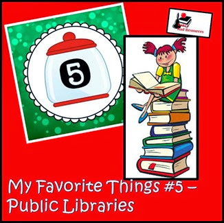 Favorite Things Blog Hop - Teacher Blogs - Library Books