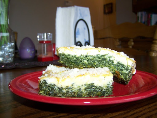 Becky's beautiful photo of her spinach torta.