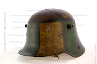 German Steel helmet wiht excellent camouflage