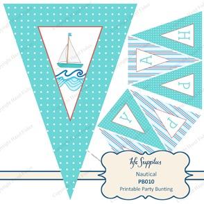 PB010 Nautical etsy 1 printable birthday party bunting 1