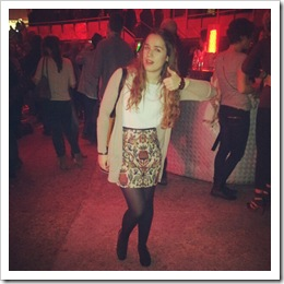 print skirt style in madrid