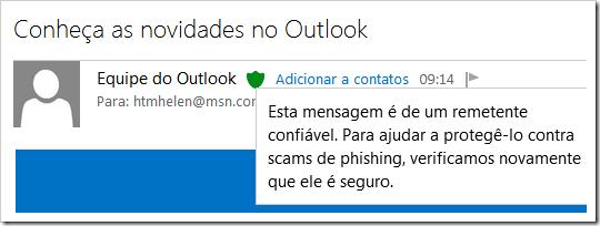 E-mail da Equipe do Outlook