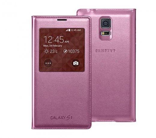 capa flip rosa para samsung galaxy s5