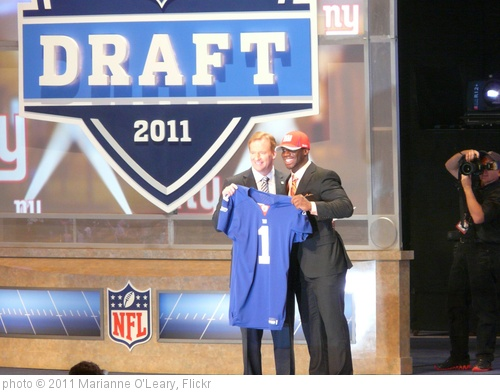 'Commissioner Goodell with Prince Amukamara' photo (c) 2011, Marianne O'Leary - license: http://creativecommons.org/licenses/by/2.0/