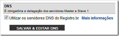 Salva e editar DNS