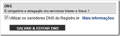 Salva e editar DNS