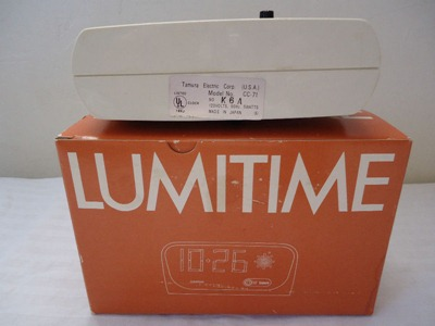 Lumitime CC-71 clock label and box