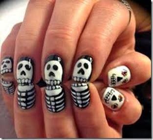 fotos de diseños para halloween en uñas