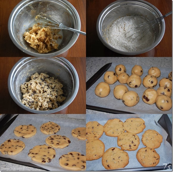 Eggless chocolate chip cookies process