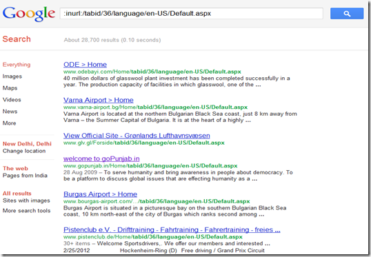 google hack DNN