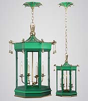 I've never met a pagoda fixture that I didn't like. The more fanciful, the better. Pagoda Bell, Charles Edwards Lighting.