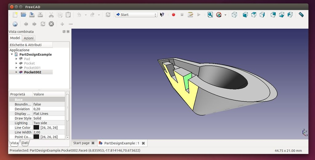 Freecad 0.14 in Ubuntu Linux