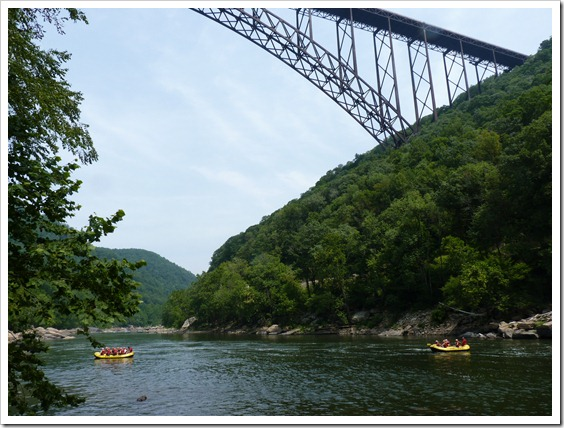 New River Gorge WV-Scenic Road Under the Bridge