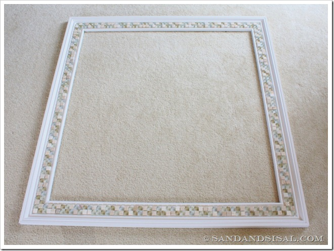 Tiled mirror frame