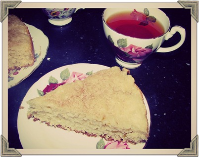 mango and coconut sour cream cake