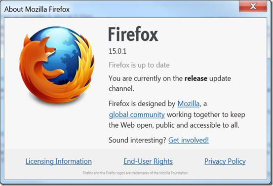 Firefox 15.0.1