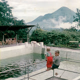 Penanggungan as seen from a swimming pool near Trawas (Taken 1957, courtesy Dieter Menne)