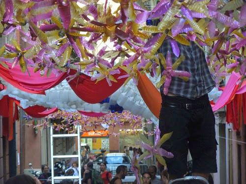 preparando las fiestas de Gràcia