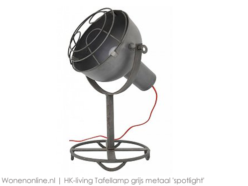 HK-living-Tafellamp-grijs-metaal-spotlight