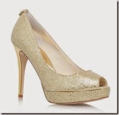 Michael Kors Gold Peep Toe Platform Heels