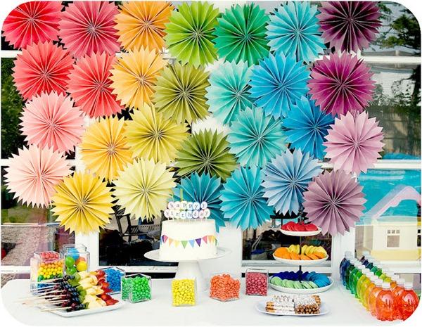 rosetas do arco-íris do partido