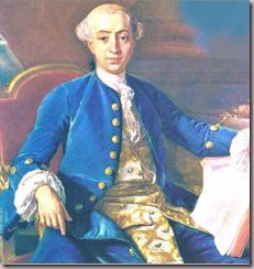 Portrait de Giacomo Casanova par son contemporain Francesco Narici (1760)