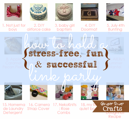 how to hold a stress-free, fun & successful link party from gingersnapcrafts.com