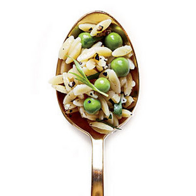 Orzo with Tarragon and Peas