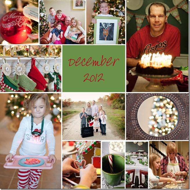 December Collage - 2012