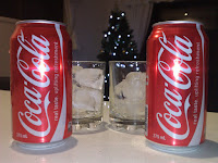 Two cokes, lots of ice, and a Christmas tree