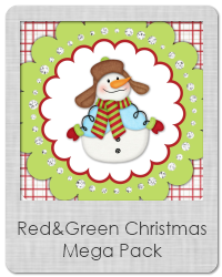 red and green christmas printables
