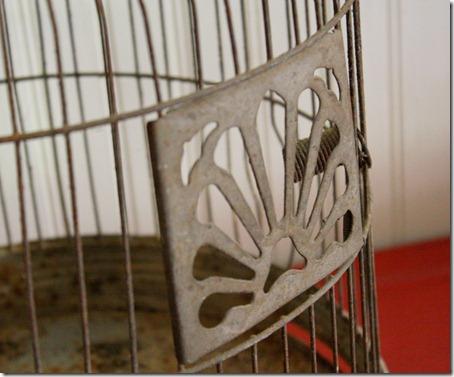 vintage bird cage door